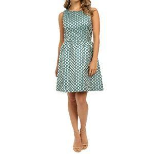 New Listing! Kensie Blue Lurex Geo Flowers Dress